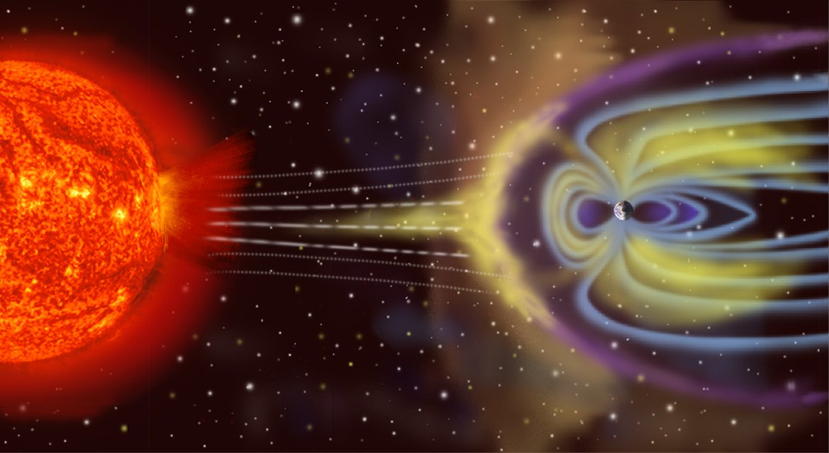 Solar and Earth magnetosphere interaction